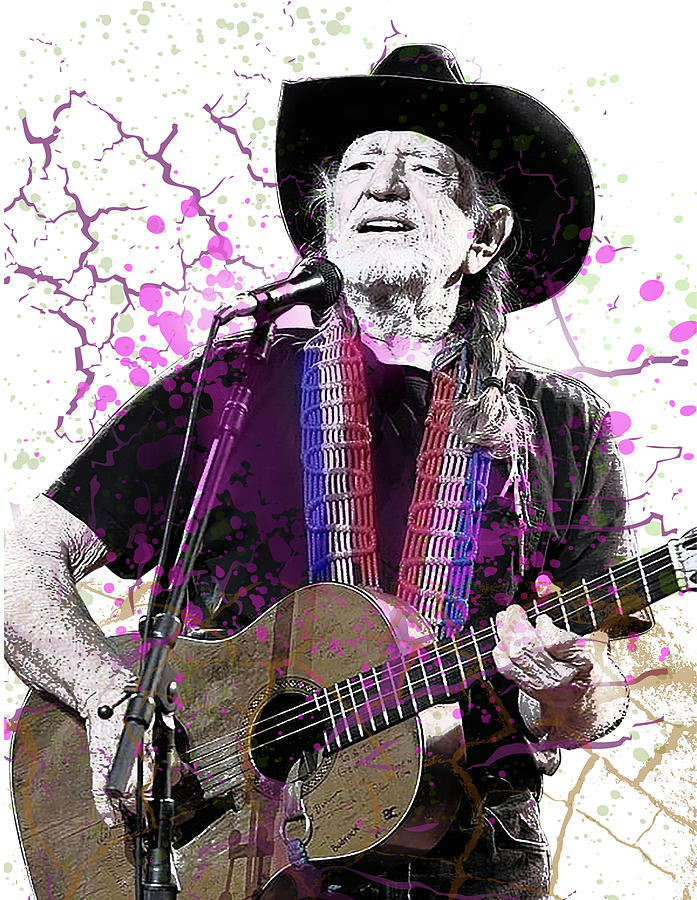 willie nelson poster by aswego arts