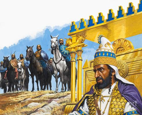 Xerxes I Of Persia Painting by Roger Payne
