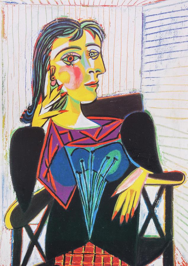 Portrait De Dora Maar : portrait, Portrait, Painting, Pablo, Picasso