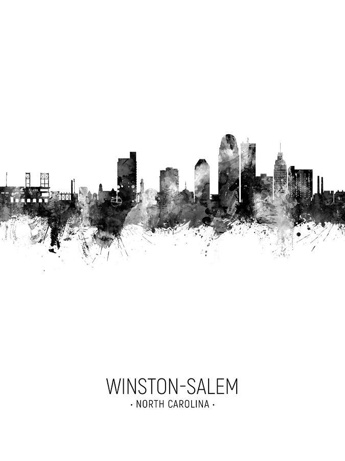 Winston-Salem North Carolina Skyline Digital Art by