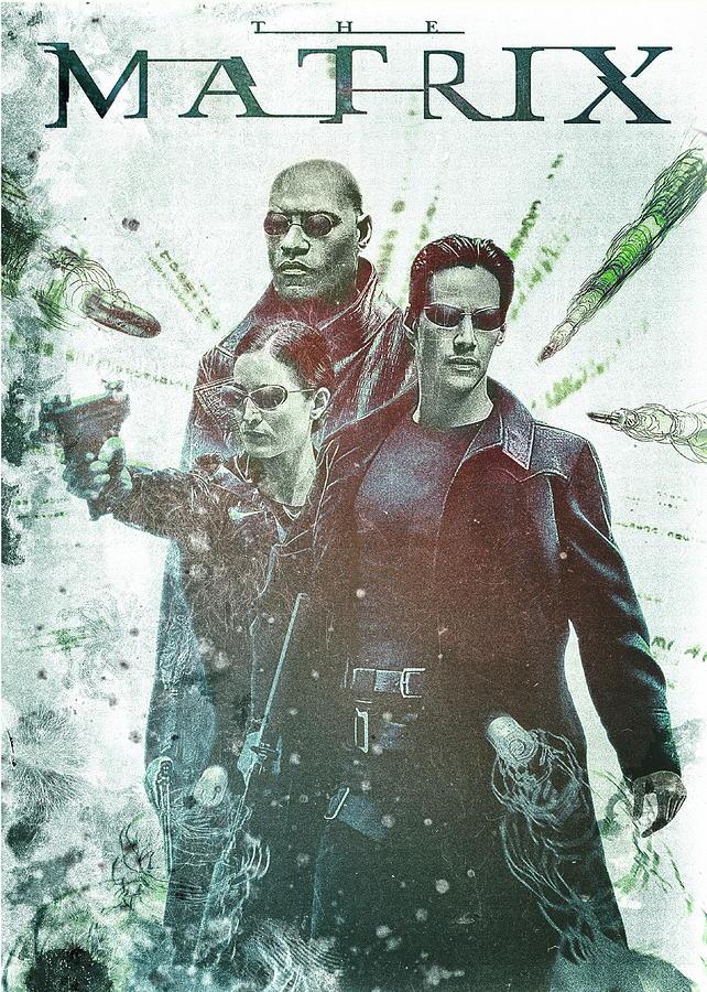 the matrix movie poster by benjamin dupont