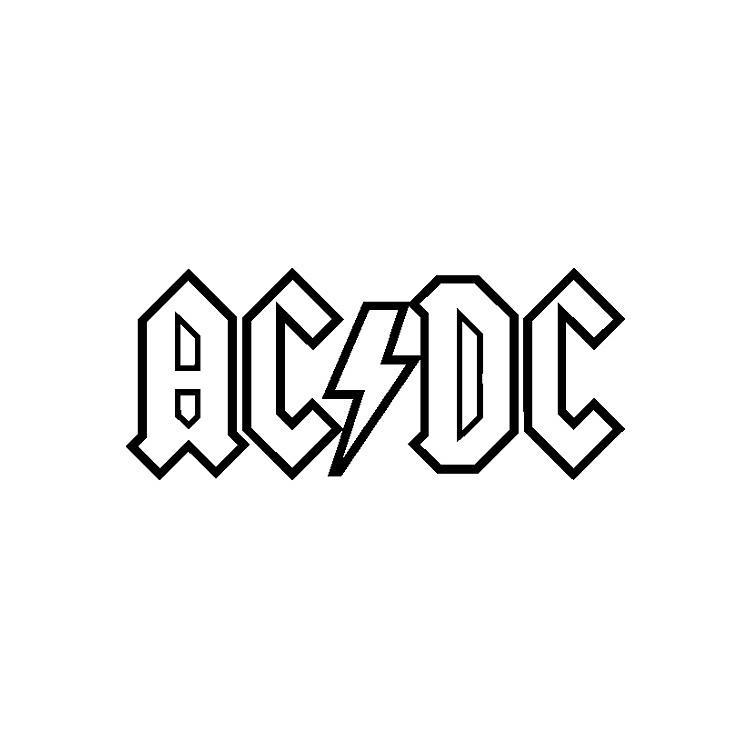AC DC Logo Border Illustration, ACDC AC/DC Logotype Car