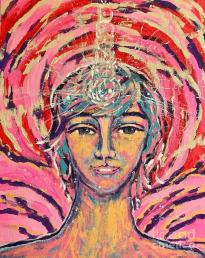 Angel Seraph Jeliel, Love and wisdom Painting by Monica Elena