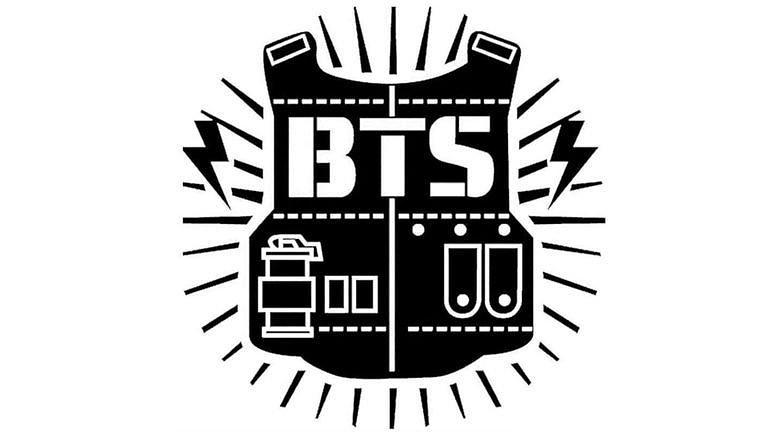 BTS LOGO South Korean Boy Band Old Logo Digital Art by