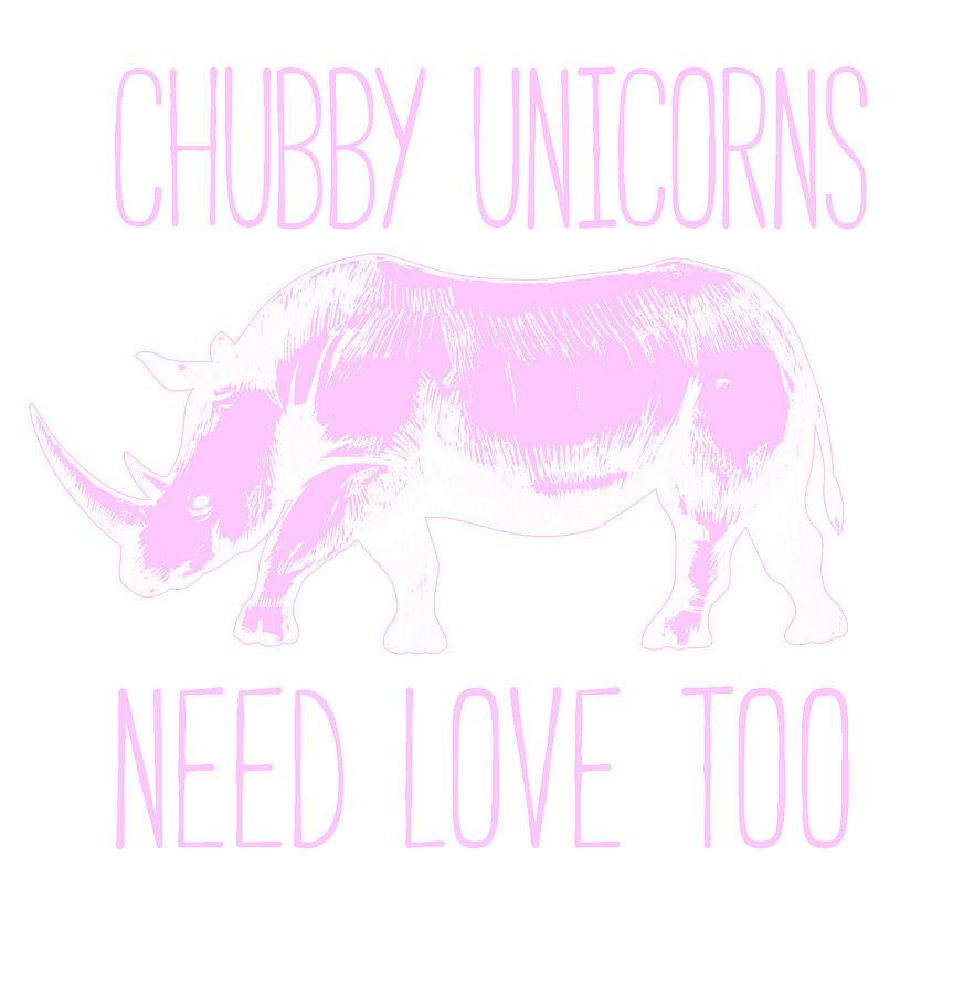 Download Chubby Unicorns Need Love Too Rhinoceros Digital Art by ...
