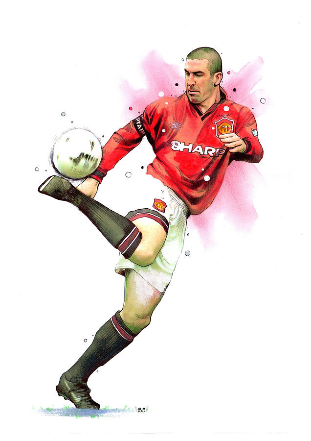 Kick', it is for the sheer exuberant beauty of his play that eric cantona is. Eric Cantona Painting By Wachira Kacharat