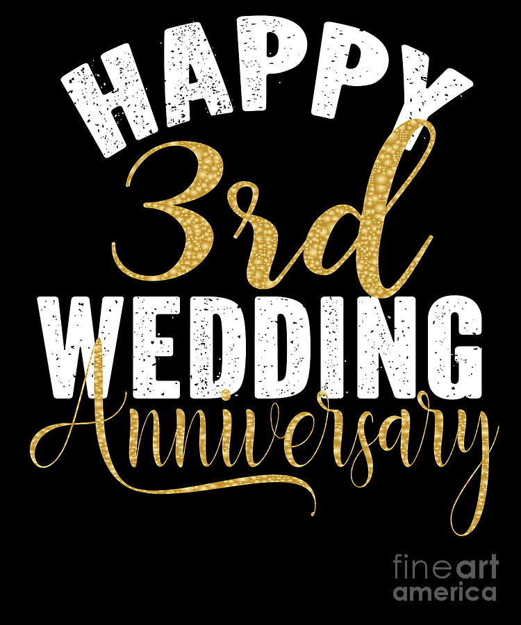 Happy 3rd Anniversary : happy, anniversary, Happy, Wedding, Anniversary, Matching, Couples, Design, Digital, Grabitees