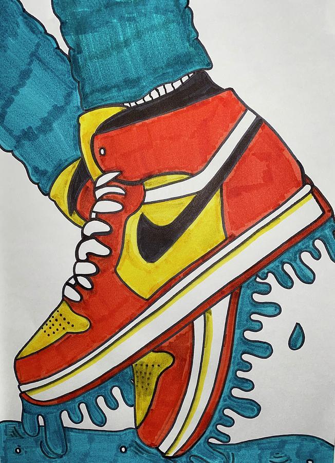 Drawing Jordans : drawing, jordans, Jordans, Drawing, Kaleigh
