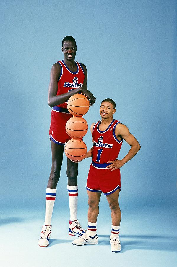 Manute Bol Pool : manute, Manute, Muggsy, Bogues, Jerry, Wachter