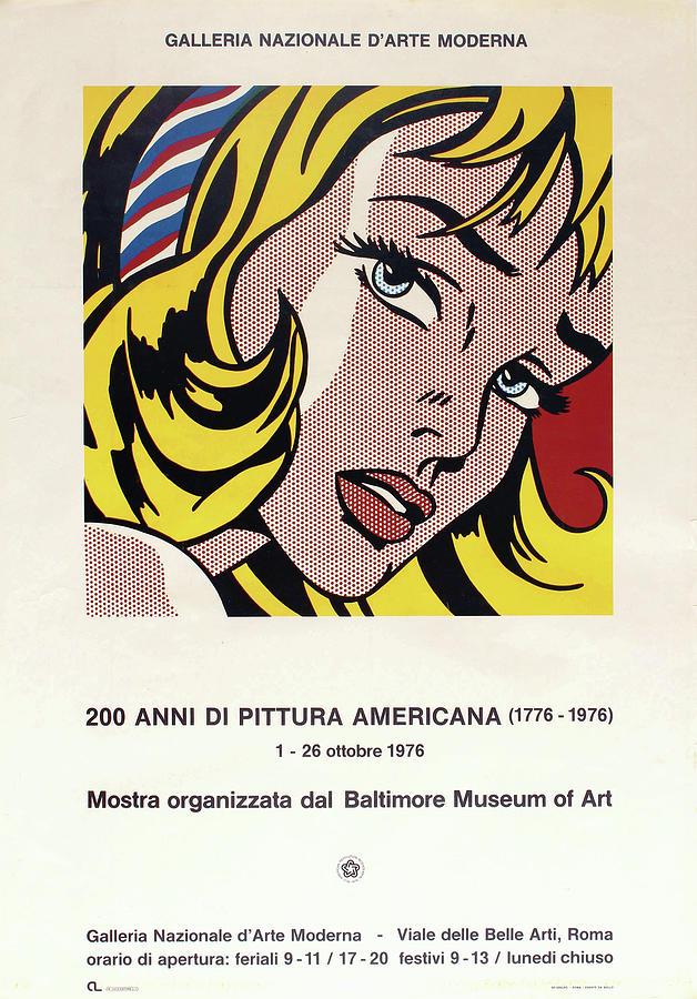 modern art exhibition poster 1976 by dejavu studio