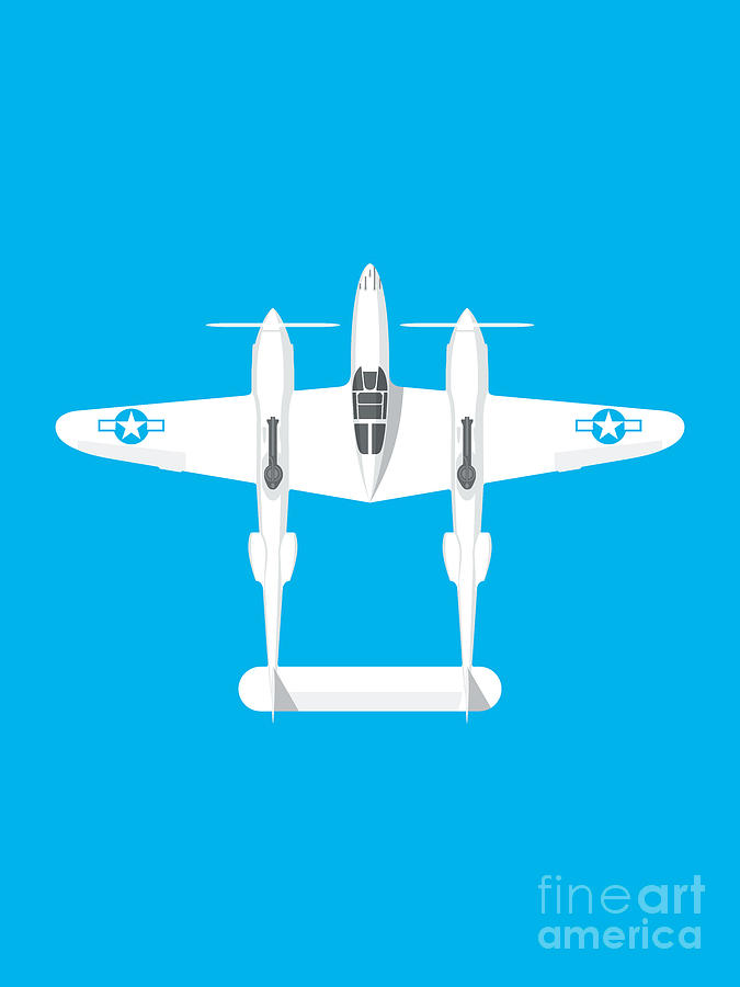 P-38 Lightning : lightning, Lightning, Fighter, Aircraft, Landscape, Digital, Organic, Synthesis