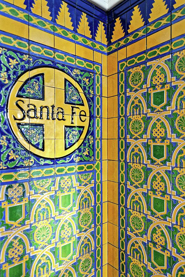 santa fe talavera tile at the santa fe depot in san diego california by darin volpe
