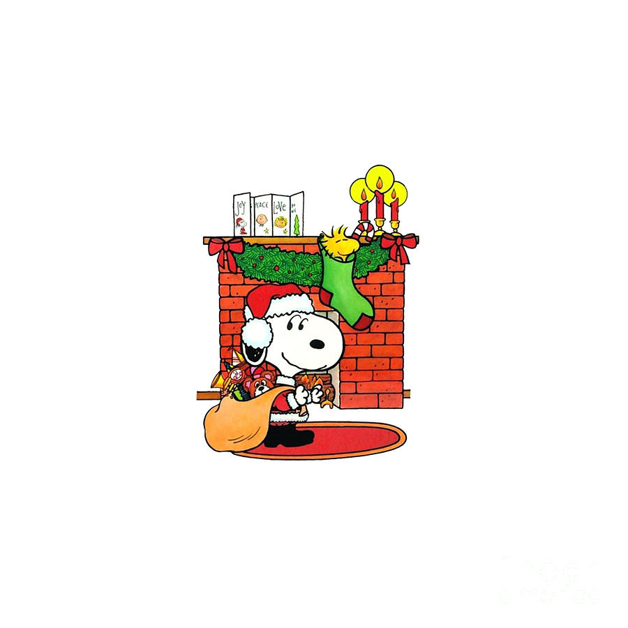 Snoopy Christmas Decorations Drawing By Wily Alien