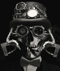 Steampunk Skull Dark Victorian Gothic Art Death Horror Skulls Skeleton Digital Art by Inspired Images