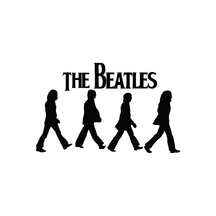 The Beatles Poster Logo The Beatles Silhouettes On Abbey