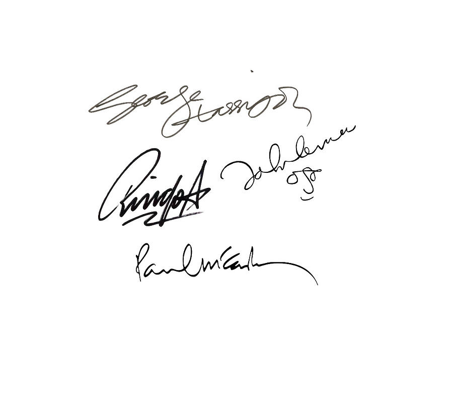 The Beatles Sign Signature Transparent Background Png