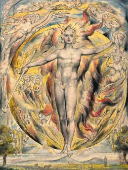 The Sun at His Eastern Gate, 1820 Painting by William Blake