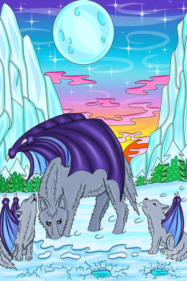 Wolves With Wings Digital Art By Melanie Jeyakkumar