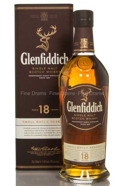 Glenfiddich 18 Year Old Small Batch Scotch Single Malt Whisky