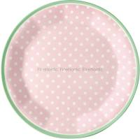 GreenGate Melamine Plate Spot Pale Pink