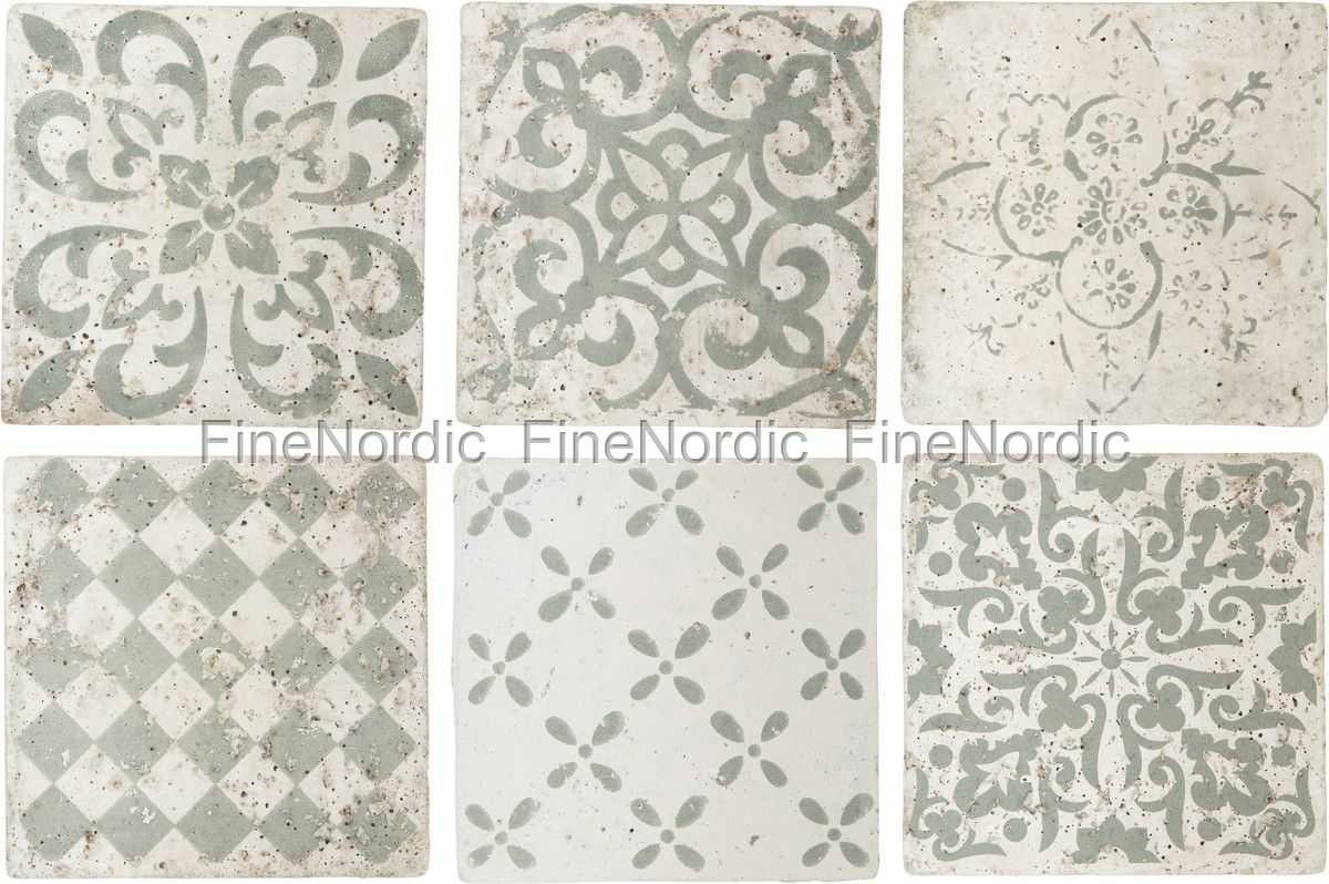 kitchen napkins costco remodel ib laursen tiles marrakech - set of 6 patterns in green ...