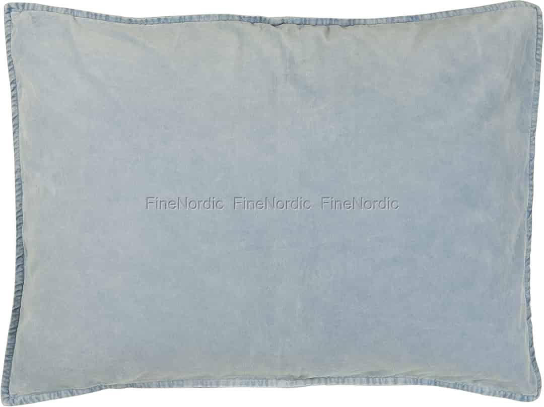 ib laursen cushion cover velvet light blue 72 x 52 cm