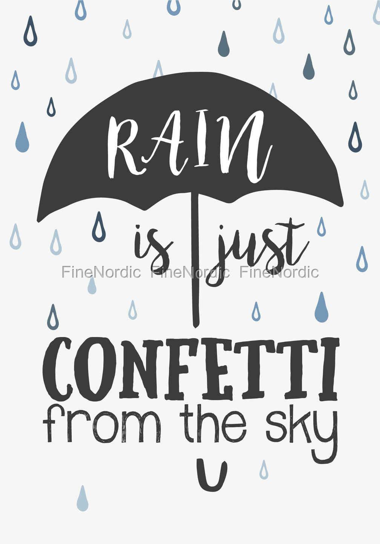 Ib Laursen Metallschild Rain is Just Confetti from the Sky