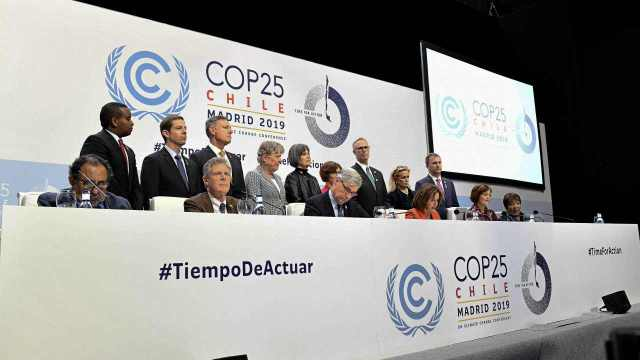 Heads of State and government pose at the inaugural session of the UN COP25 Climate Summit in Ifema on 2 December in Madrid, Spain. Image: Getty