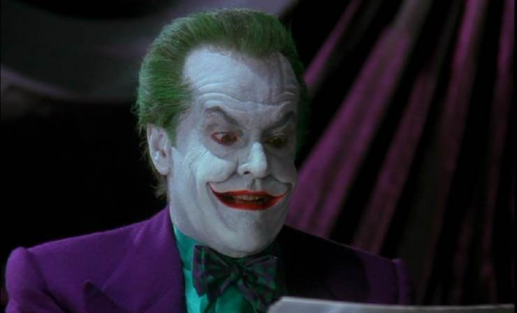 Jack Nicholson as the Joker. Image courtesy: Facebook