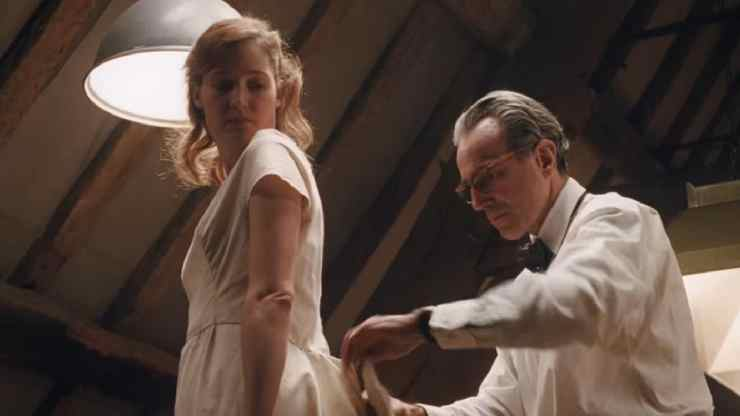 Mary Krieps and Daniel Day-Lewis in a still from Phantom Thread. YouTube