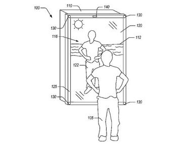 Amazon patents a 'blended-reality mirror' technology that