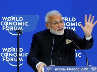 Prime Minister Narendra Modi at the Opening Plenary during the World Economic Forum (WEF) annual meeting in Davos, Switzerland. Reuters