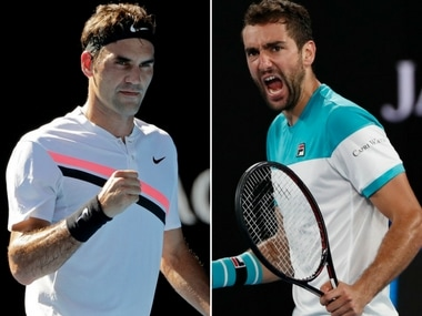 Image result for roger federer vs. marin cilic australian open 2018