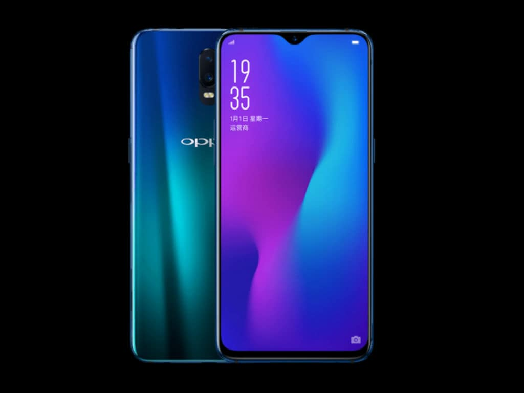 oppo r17 with an
