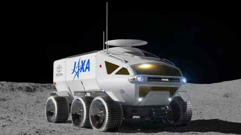 A fuel-cell powered lunar rover concept, in development at Toyota Motor Corp with the Japanese space agency JAXA. Image: Toyota/JAXA.