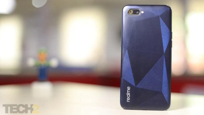 Realme C2 has a plastic back. Image: tech2/Nandini Yadav