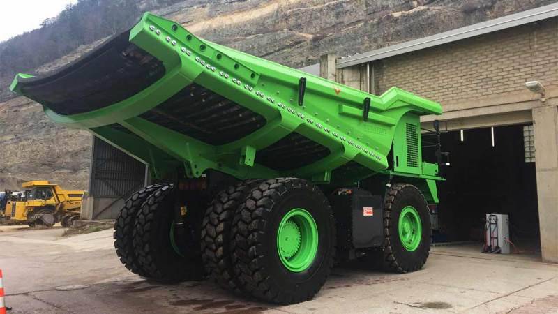 World's largest electric vehicle is a 110-tonne dump truck that needs no charging