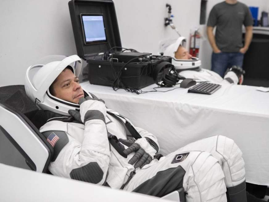 NASA astronauts try out next-gen spacesuits by SpaceX for ...
