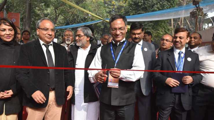 Prof Ashutosh Sharma, Secretary DST, inaugurates National Level Exhibition & Project Competition at IISF 2016. Image: DST