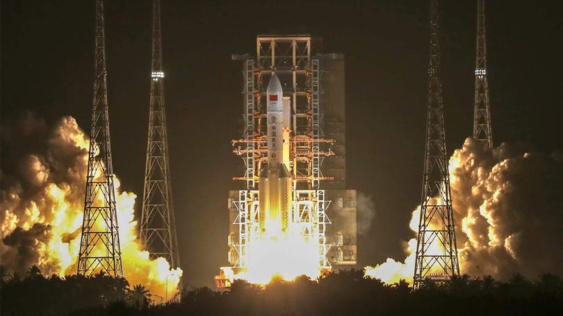 China launches third Long March-5 rocket in Hainan province on Friday evening, 27 December 2019. Image: ANI