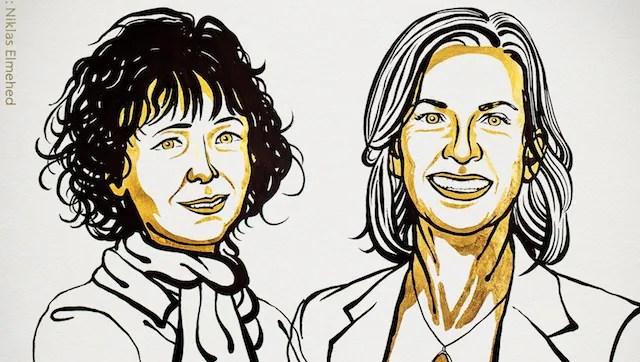 Nobel Prize in chemistry awarded to Emmanuelle Charpentier and Jennifer Doudna for work on CRISPR gene editing