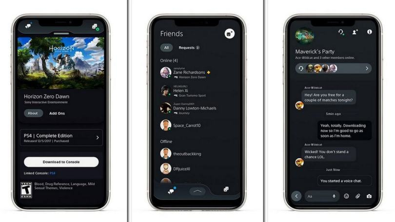 Sony's PlayStation app gets new features including voice chat, integrated messaging and more