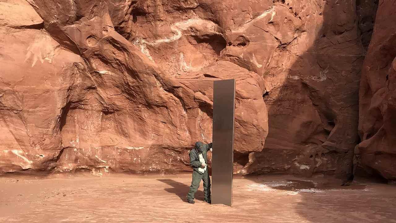 "Mysterious metal ""https://www.firstpost.com/tech/science/obelisk"" in US desert draws wild UFO, conspiracy theories world over"