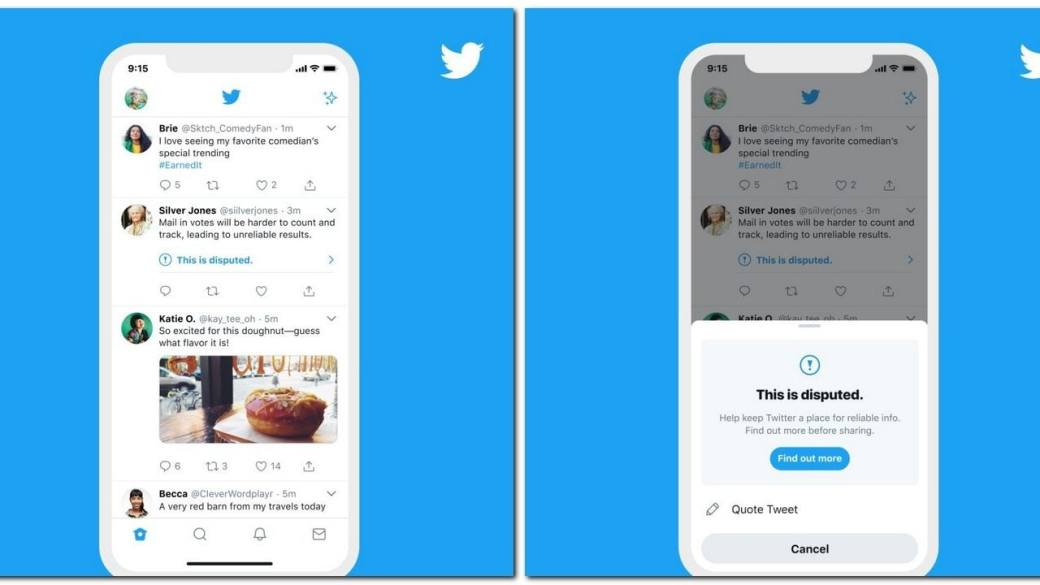 Twitter will now show warning to users if they try to retweet flagged tweets