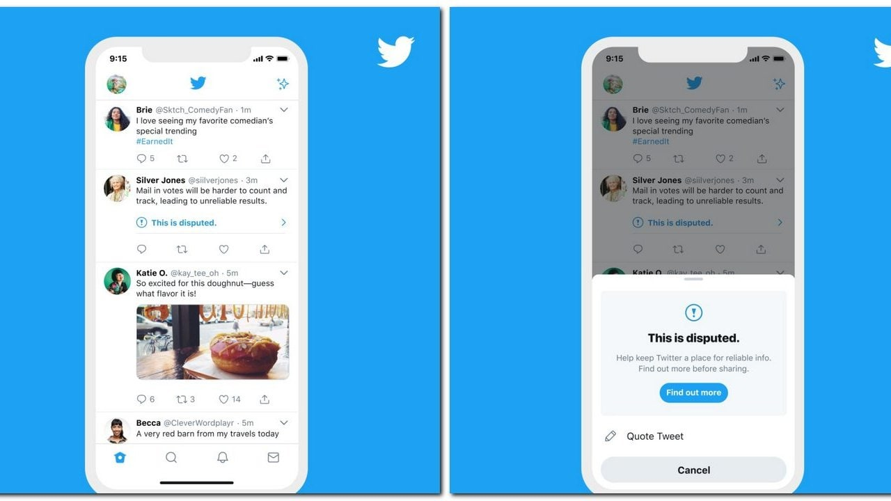 Twitter will now show warning to users if they try to retweet flagged tweets- Technology News, Gadgetclock