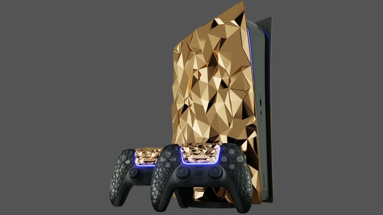 Sony PlayStation 5 Golden Rock edition made of 20 kgs 18-karat gold unveiled by Caviar- Technology News, Gadgetclock
