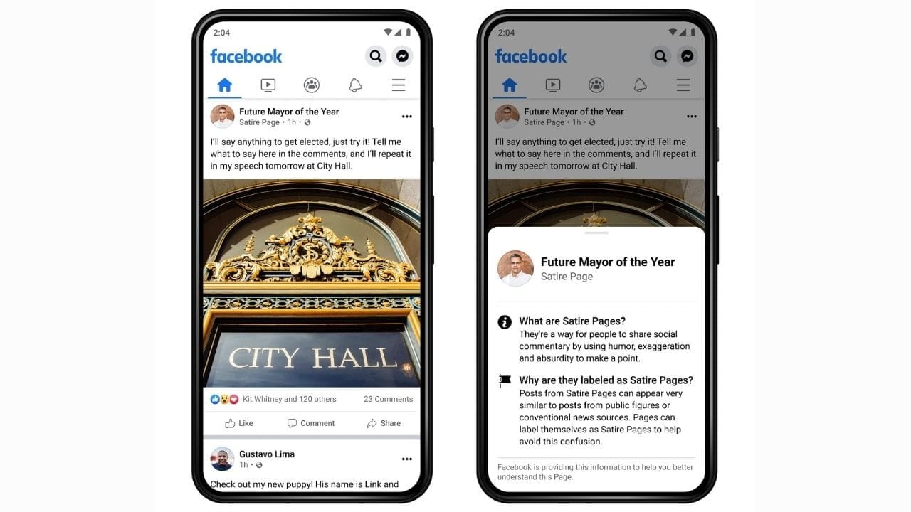 Facebook Pages will now be labelled for more context on posts; feature being tested in the US- Technology News, Gadgetclock
