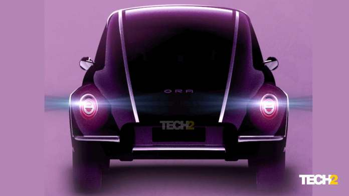 Curved tail section, protruding bumpers and oval tail-lights are signature Beetle cues. Image: ORA