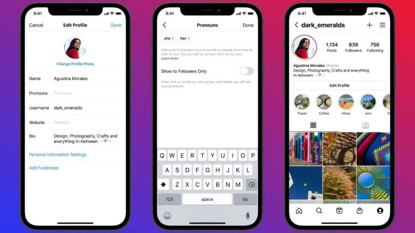 Instagram now lets users add pronouns to their profile, feature currently available only in a few countries- Technology News, Gadgetclock
