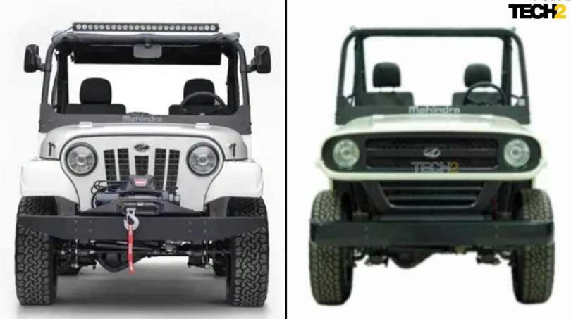 Then and now: Mahindra's Roxor underwent two significant redesigns between 2018 and 2020 after a heated legal battle with Jeep. Image: Tech2/Amaan Ahmed